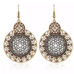 BOGO! Gold & Silver Ornate Filigree Earrings Boho